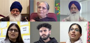 Community members who participated in the UBC Punjabi Oral History Project. Top row from left to right: Deep Singh Sangra, Harpreet Swaich, and Jasbir Singh Gandham. Bottom from left: Gurpreet Kaur Bains, Lovneet Aujla, and Parabjot Singh.